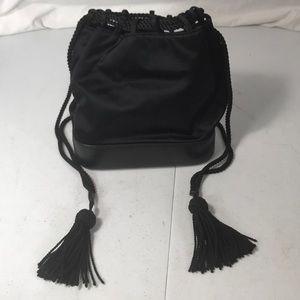 Gucci vtg black velour crossbody purse 0057810248